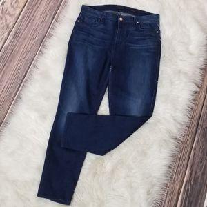 Jen7 Dark Wash Cropped Skinny Jeans